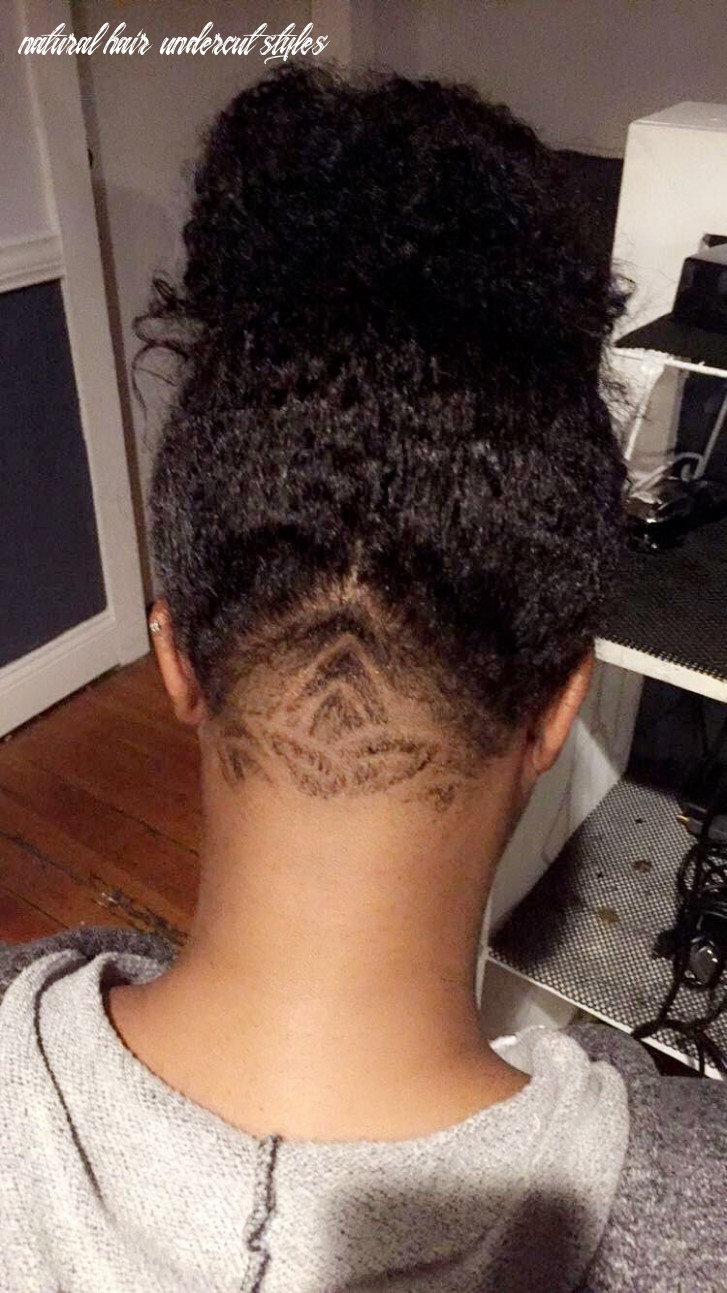 Lotus undercut on natural hair … | undercut natural hair, natural