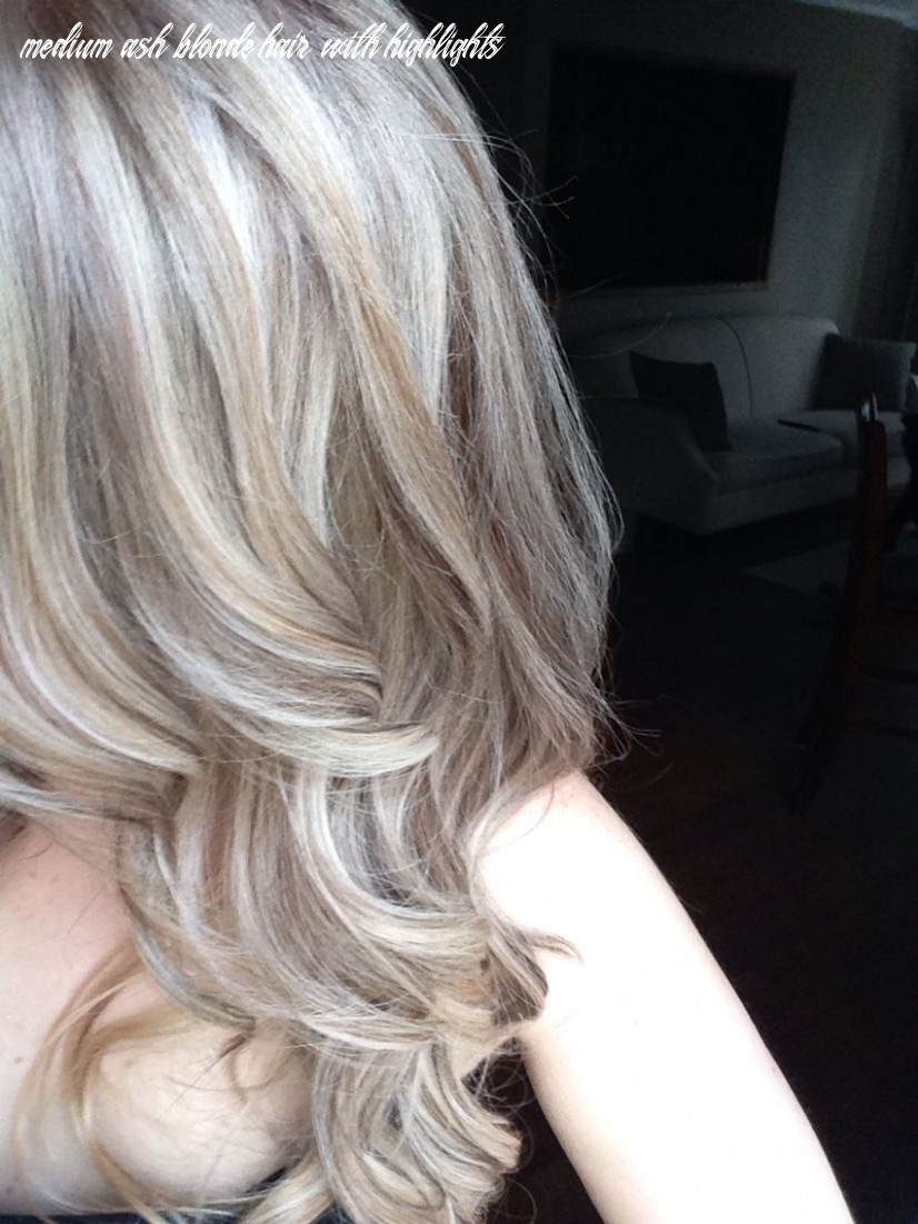 Medium ash blonde with platinum baby highlights … (with images