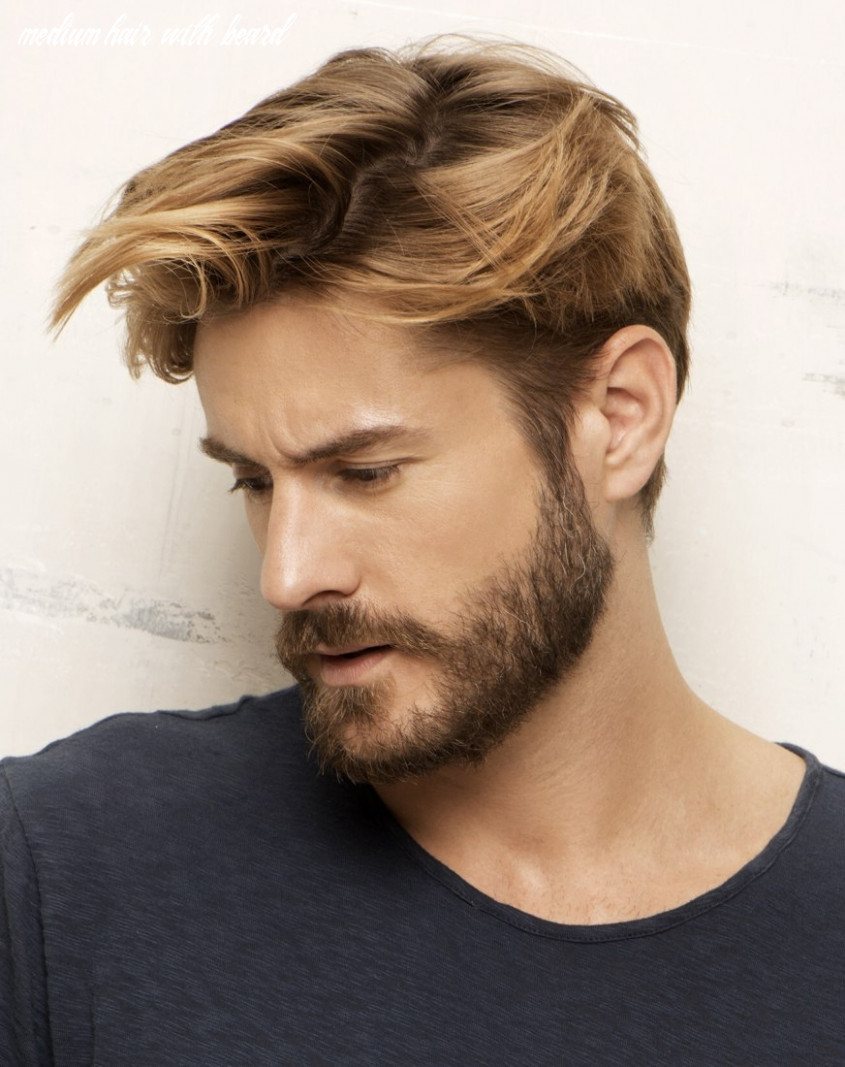 Medium Hair With Beard Styles Handsome Look For Men With Great H ...