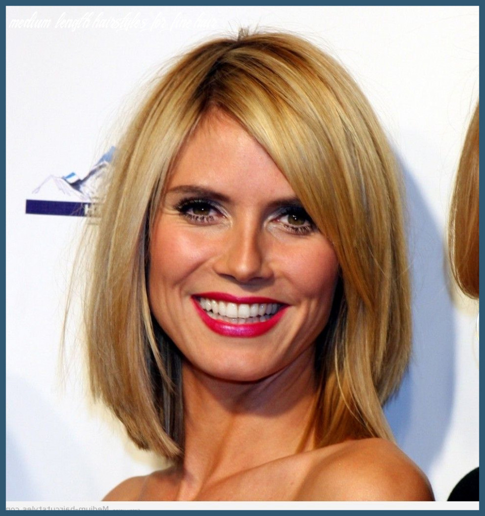 Medium length hairstyles for fine hair round face 9 pin on