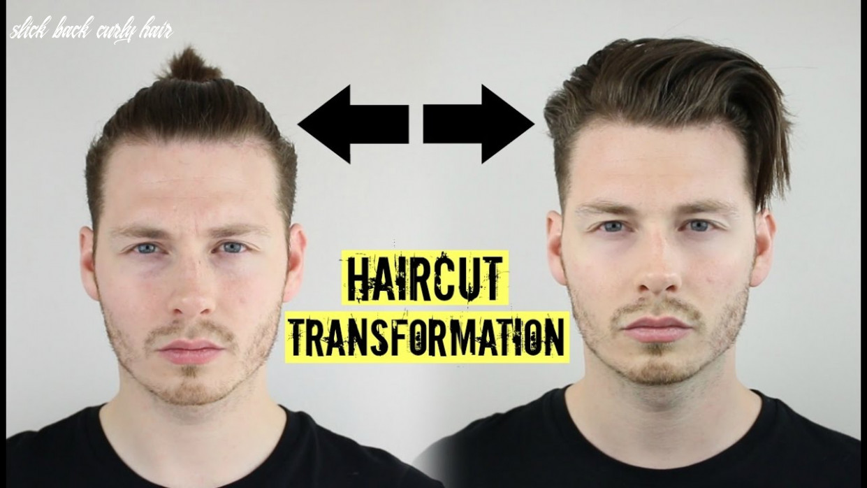 Mens curly hair tutorial top knot to slick back 9 #ad slick back curly hair
