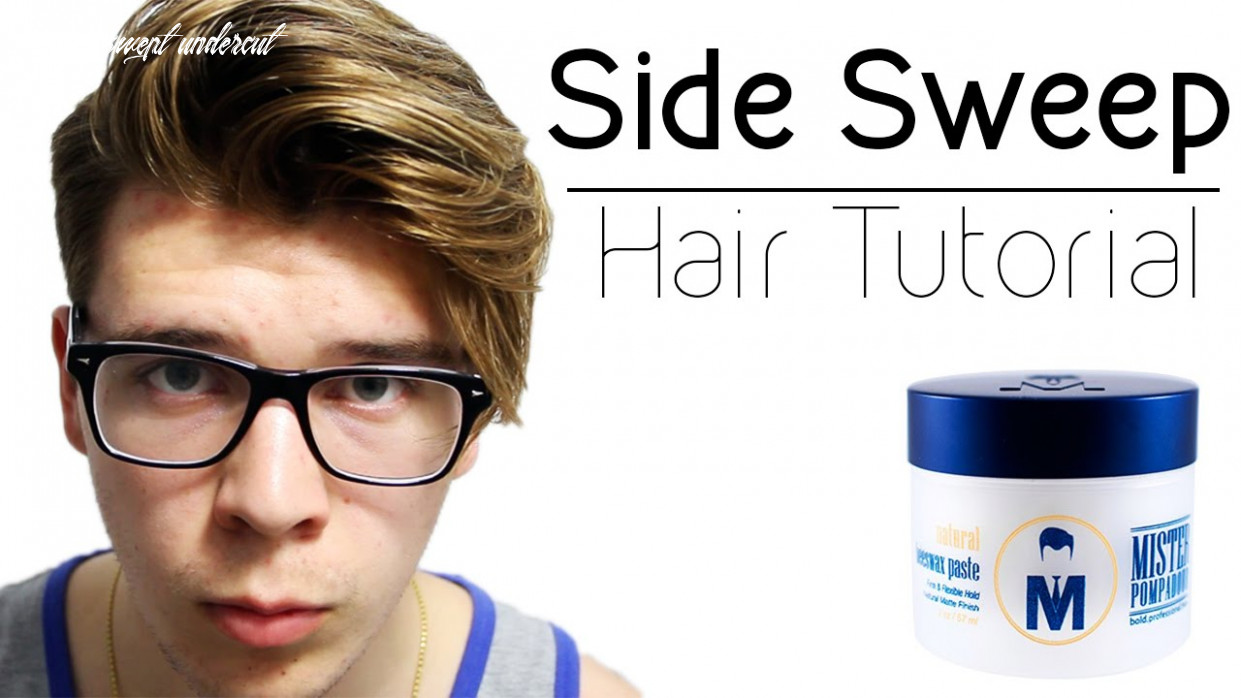 Mens Side Swept Undercut Hair Tutorial | Long Undercut Hairstyles 9