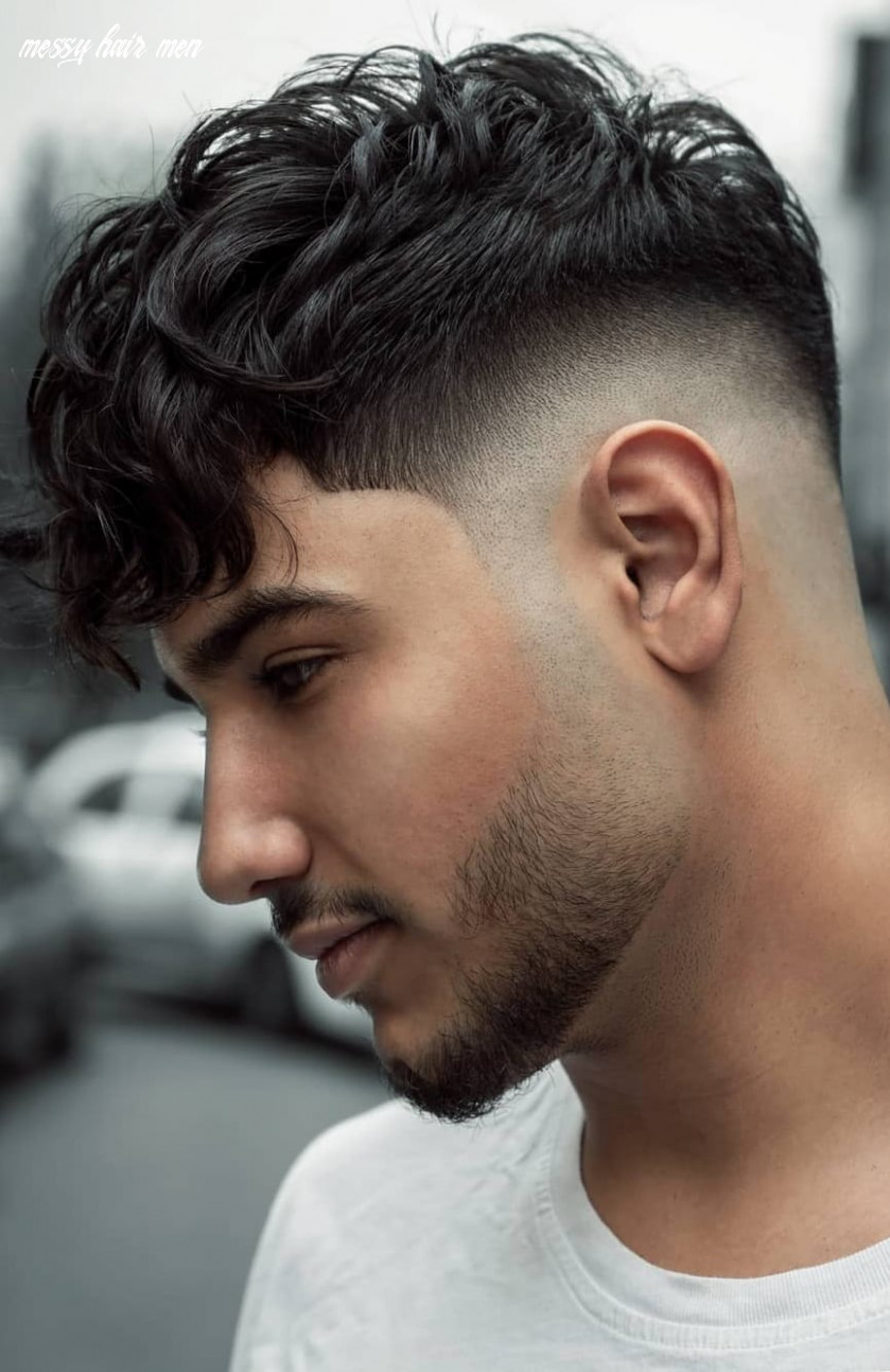 Messy hair fade haircut for men to try in 11 ⋆ best fashion