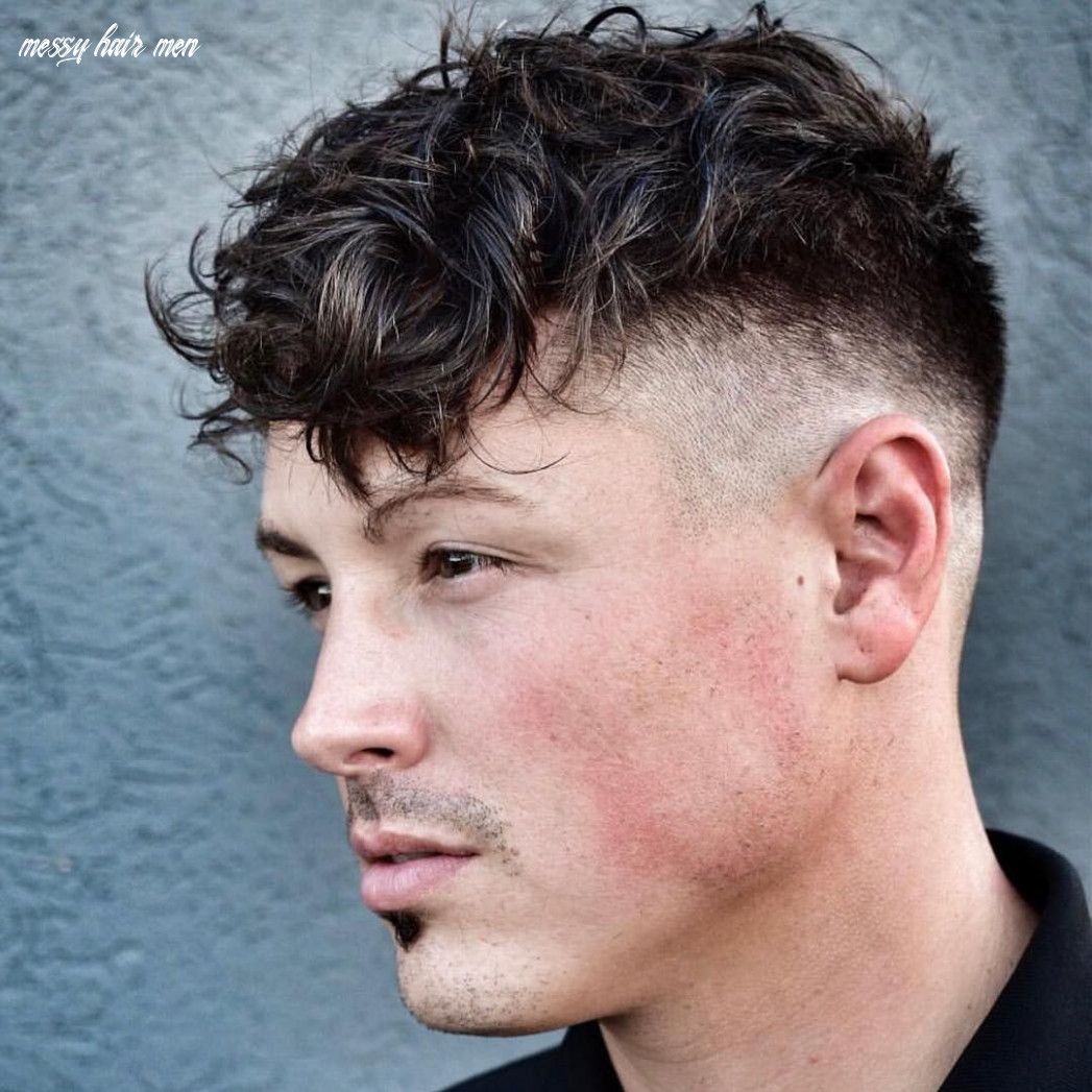 Messy hairstyles with choppy curls | mens hairstyles, mens
