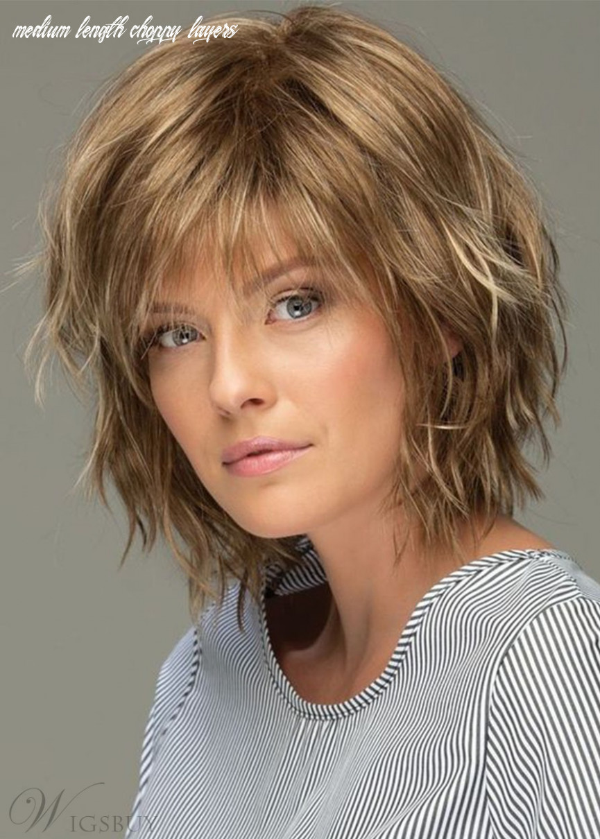 Messy Look Women's Shoulder Length Style Features Choppy Layers ...