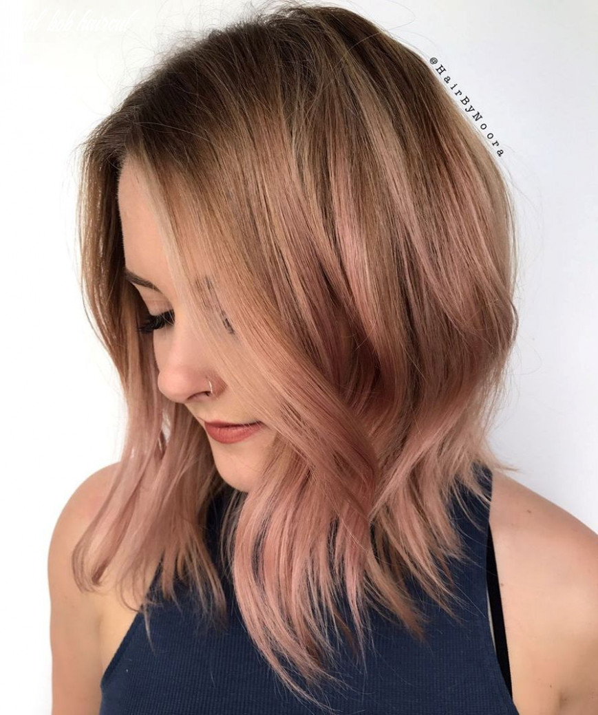 Mid bob with rose gold (with images)   haircuts for fine hair, bob