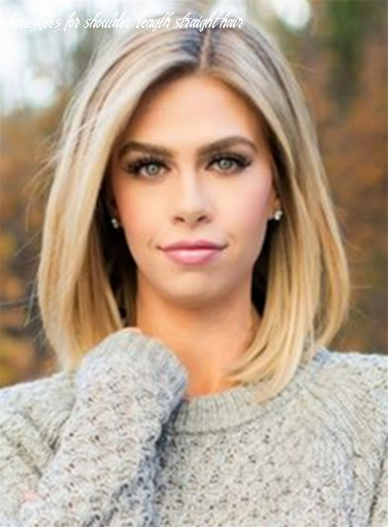 Mid length straight blonde full lace human hair wig 8 inches