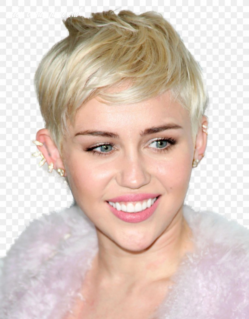 Miley cyrus pixie cut hairstyle hair coloring bangs, png
