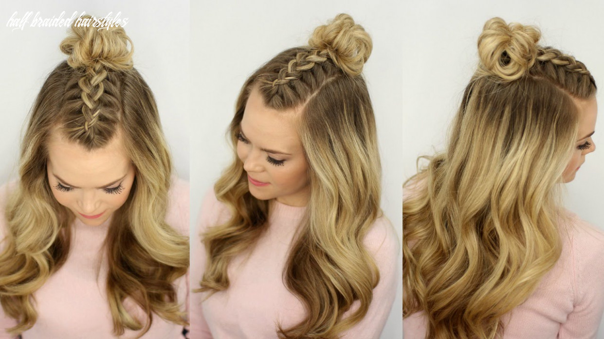 Mohawk braid top knot | half up hairstyle | missy sue half braided hairstyles