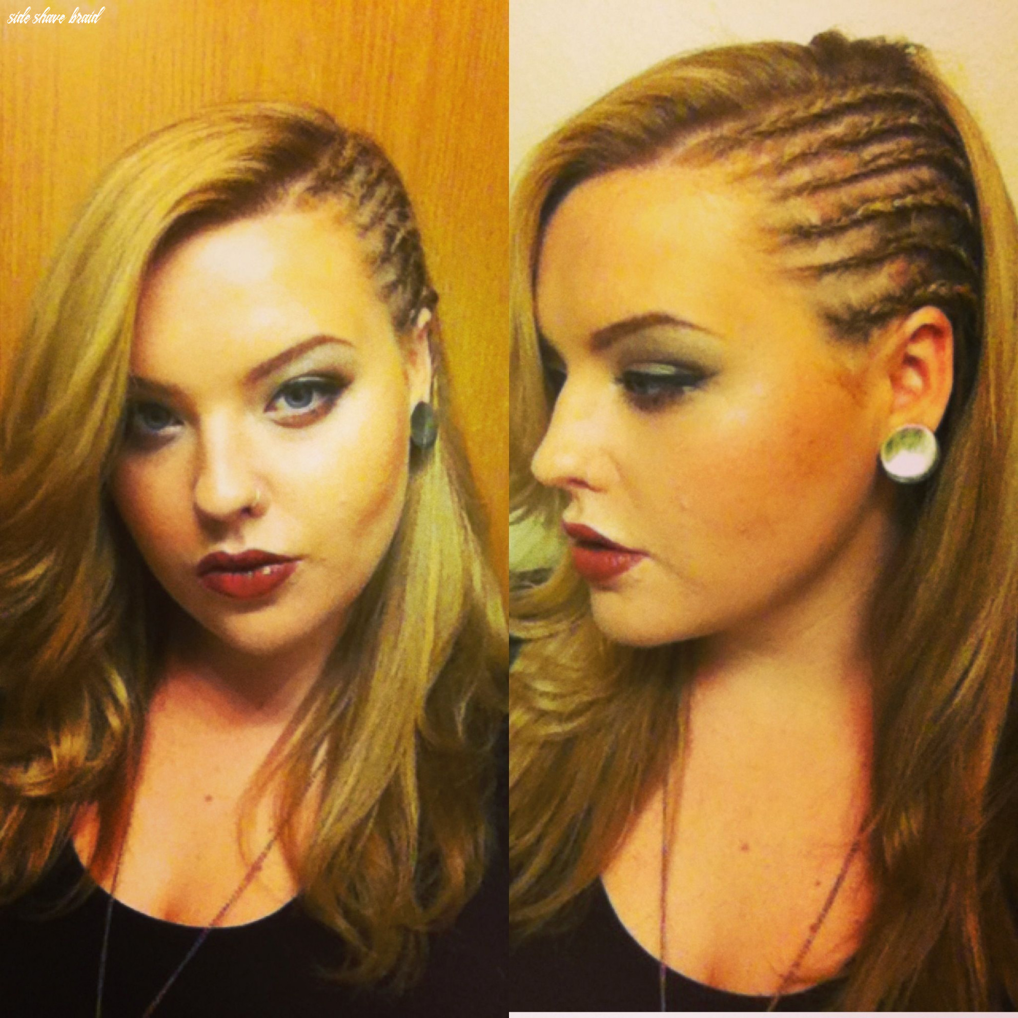 "My cornrow ""faux side shave"" from @kayla barkett vanskyhawk"