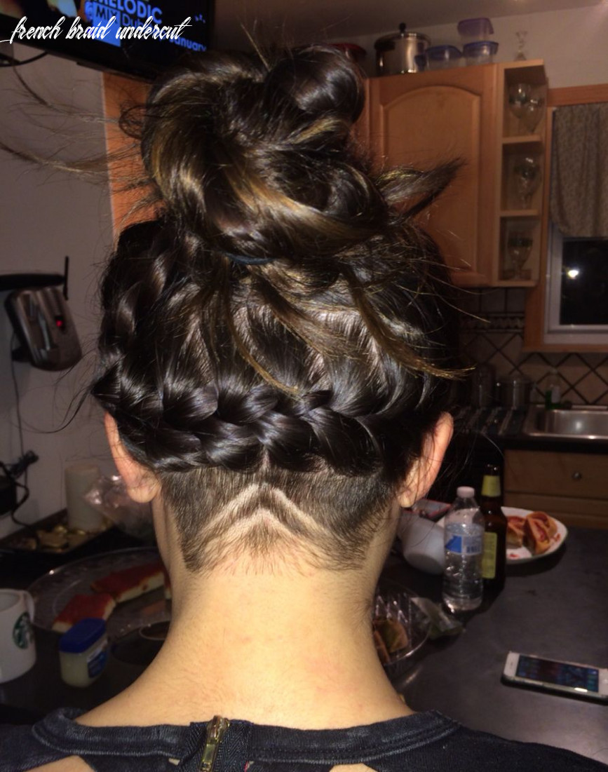 Nape undercut and french braid (with images)   undercut long hair