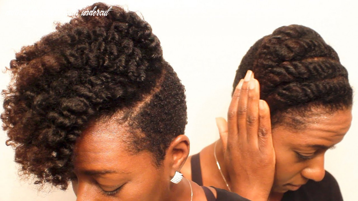 Natural hair| the defined flat twist on tapered/undercut curly hair natural hairstyles with undercut