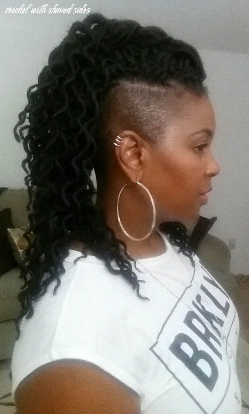Natural hair with shaved sides freetress crochet locs 10x soft