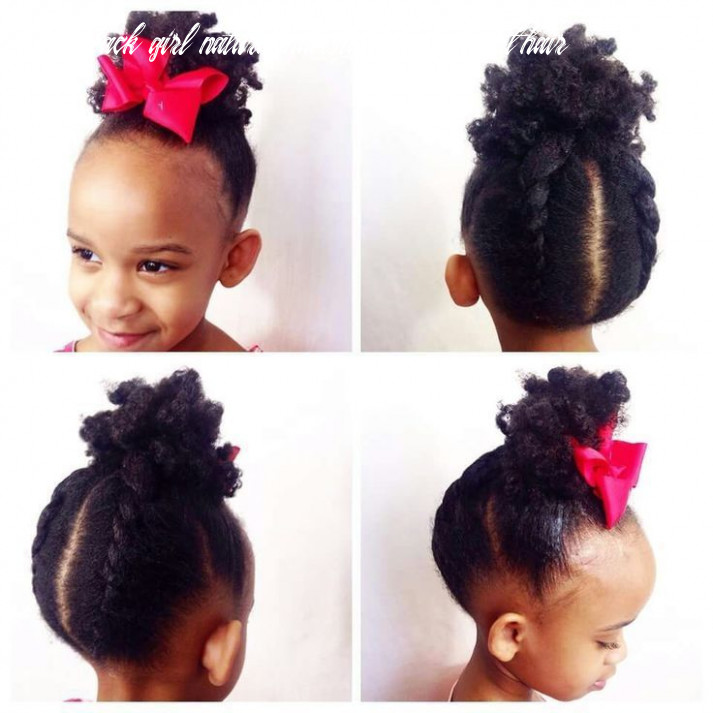 Natural hairstyles for little black girls with short hair | little