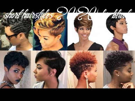 Natural Short Pixie Hairstyles for Black Women 8 & 8 - YouTube