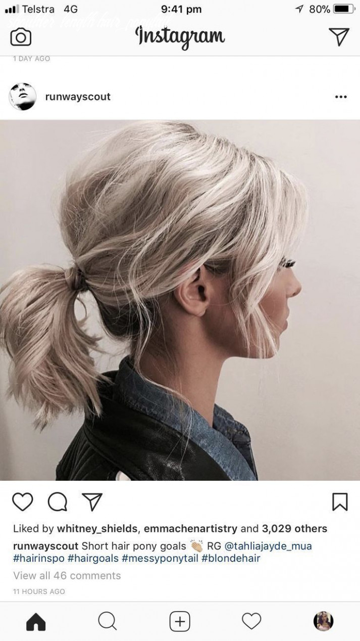 New free ponytail hairstyles shoulder length thoughts in 12