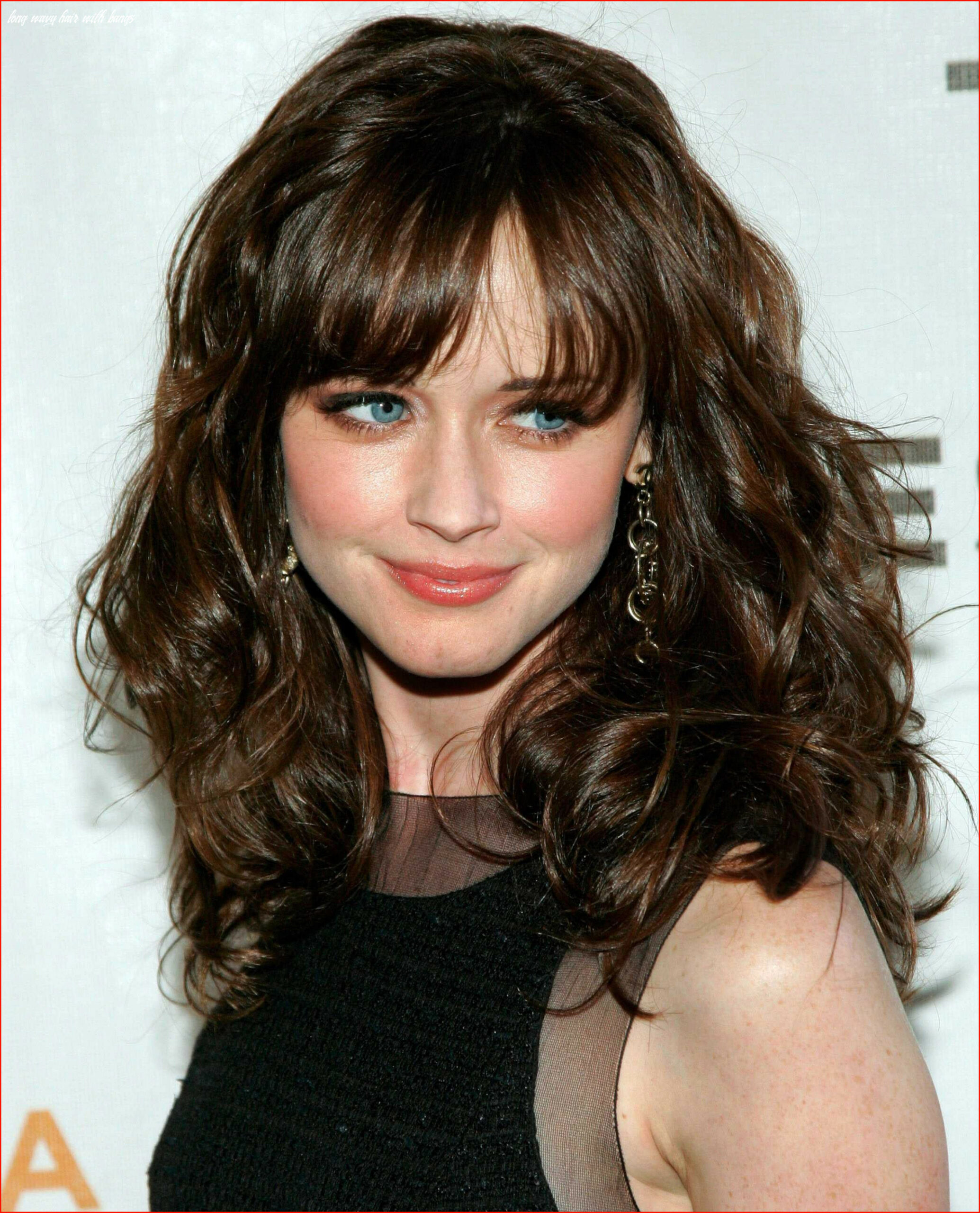 New long wavy hairstyles with bangs photos of long hairstyles