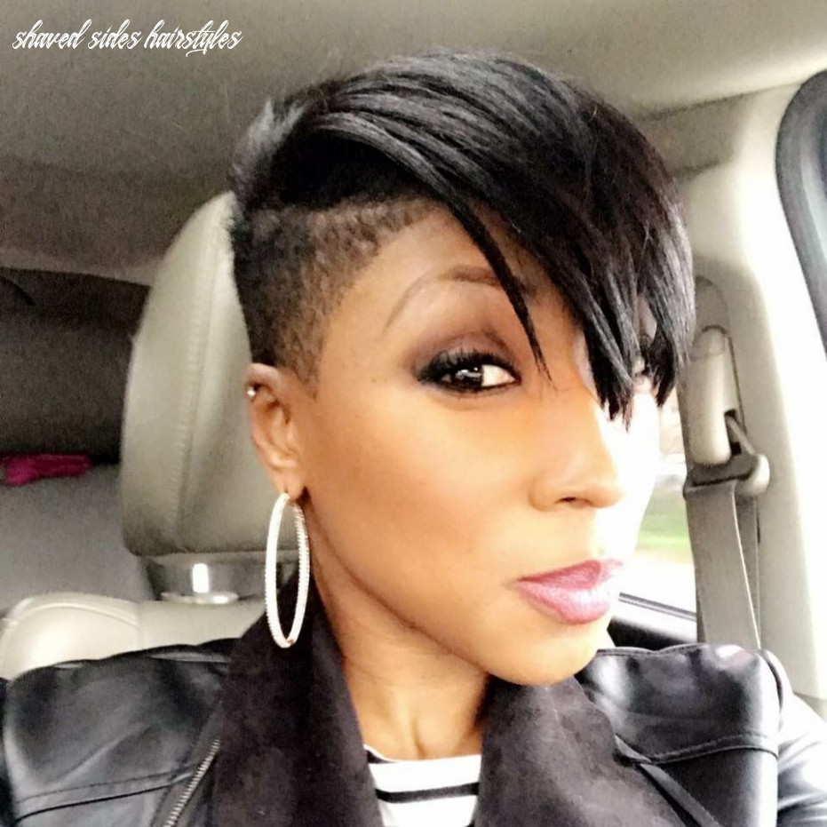 One side shaved hairstyles for black women (with images) | shaved