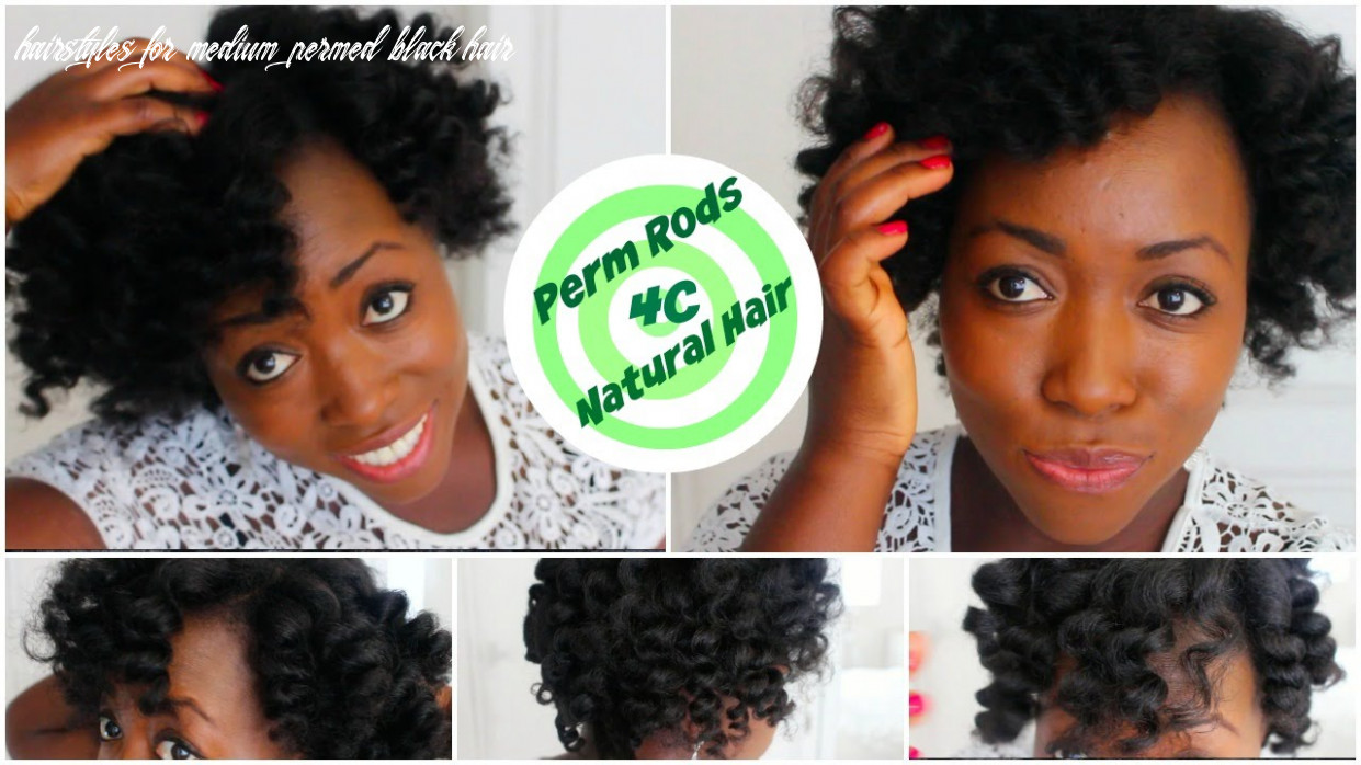 Perm rod set on 10c natural hair heatless curls overnight after african threading hairstyle tutorial hairstyles for medium permed black hair