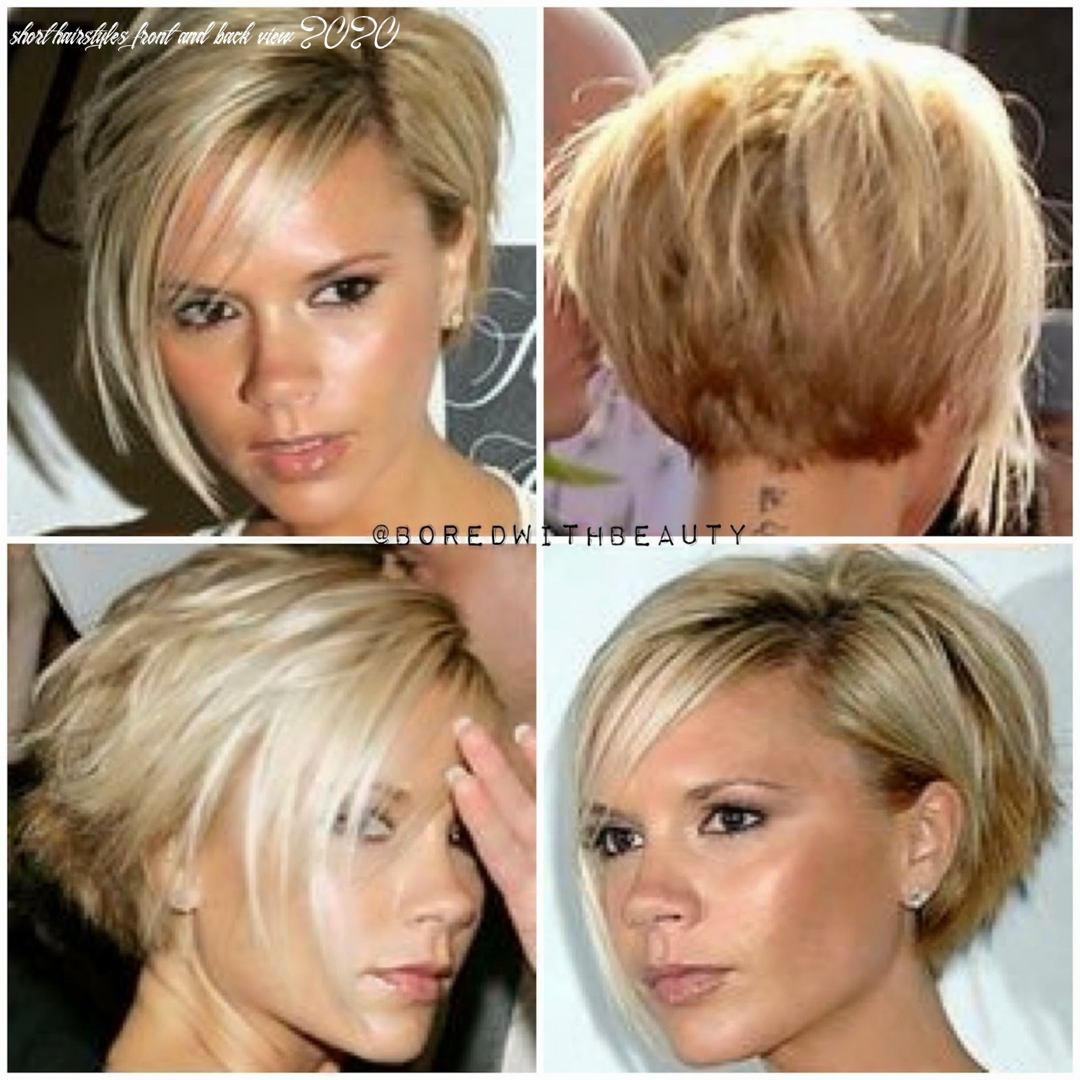 Pictures of short haircuts front and back hairstyles 12 ideas