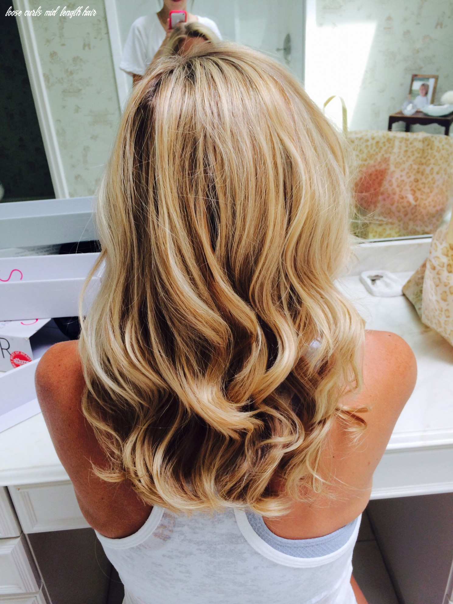 Pin by bailey seklar on beauty | curled hairstyles for medium hair loose curls mid length hair