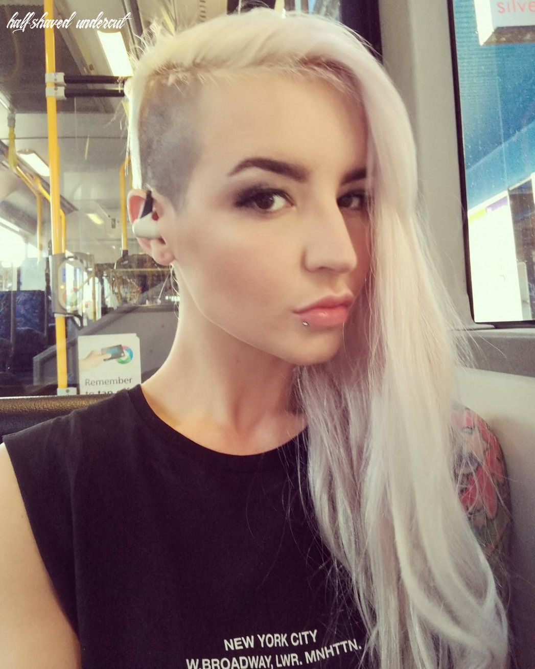 Pin by d k on half shaved hair | Shaved side hairstyles, Shaved ...