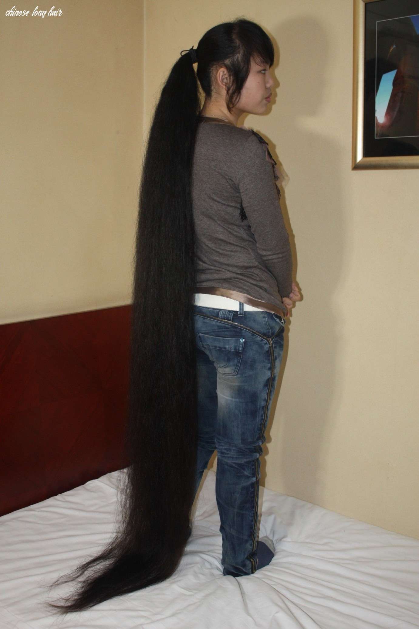 Pin by on chinese long hair (with images)   long hair ponytail