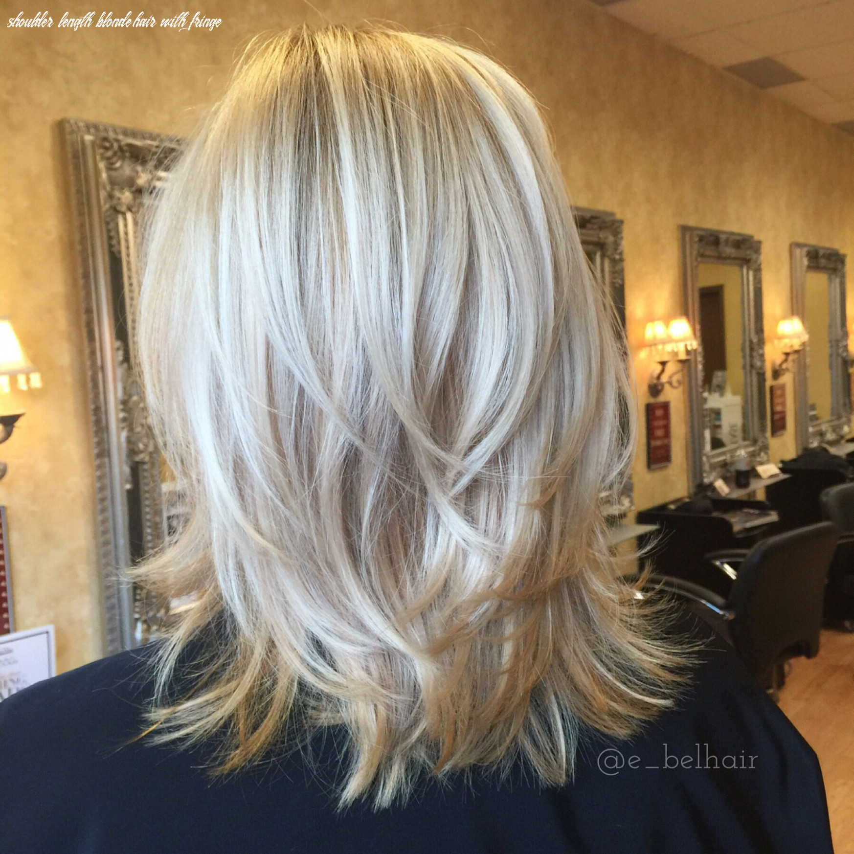 Pin on all things beauty shoulder length blonde hair with fringe