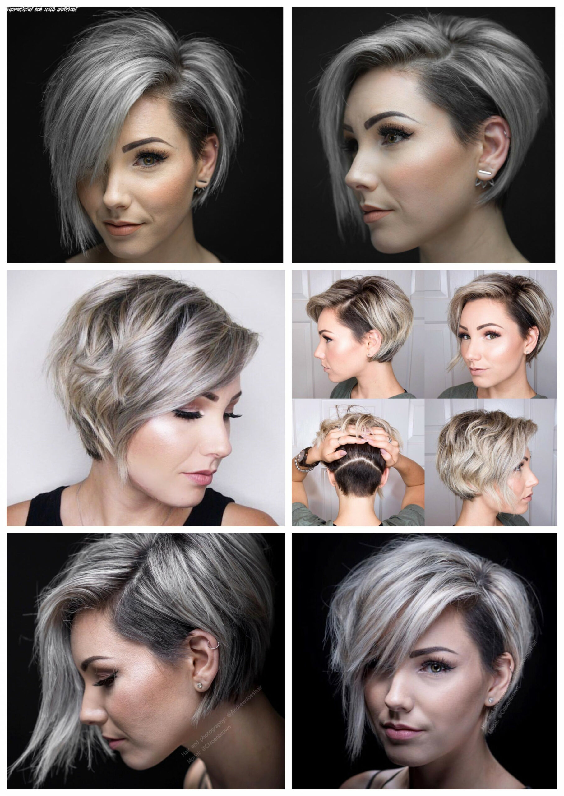 Pin on beauty asymmetrical bob with undercut