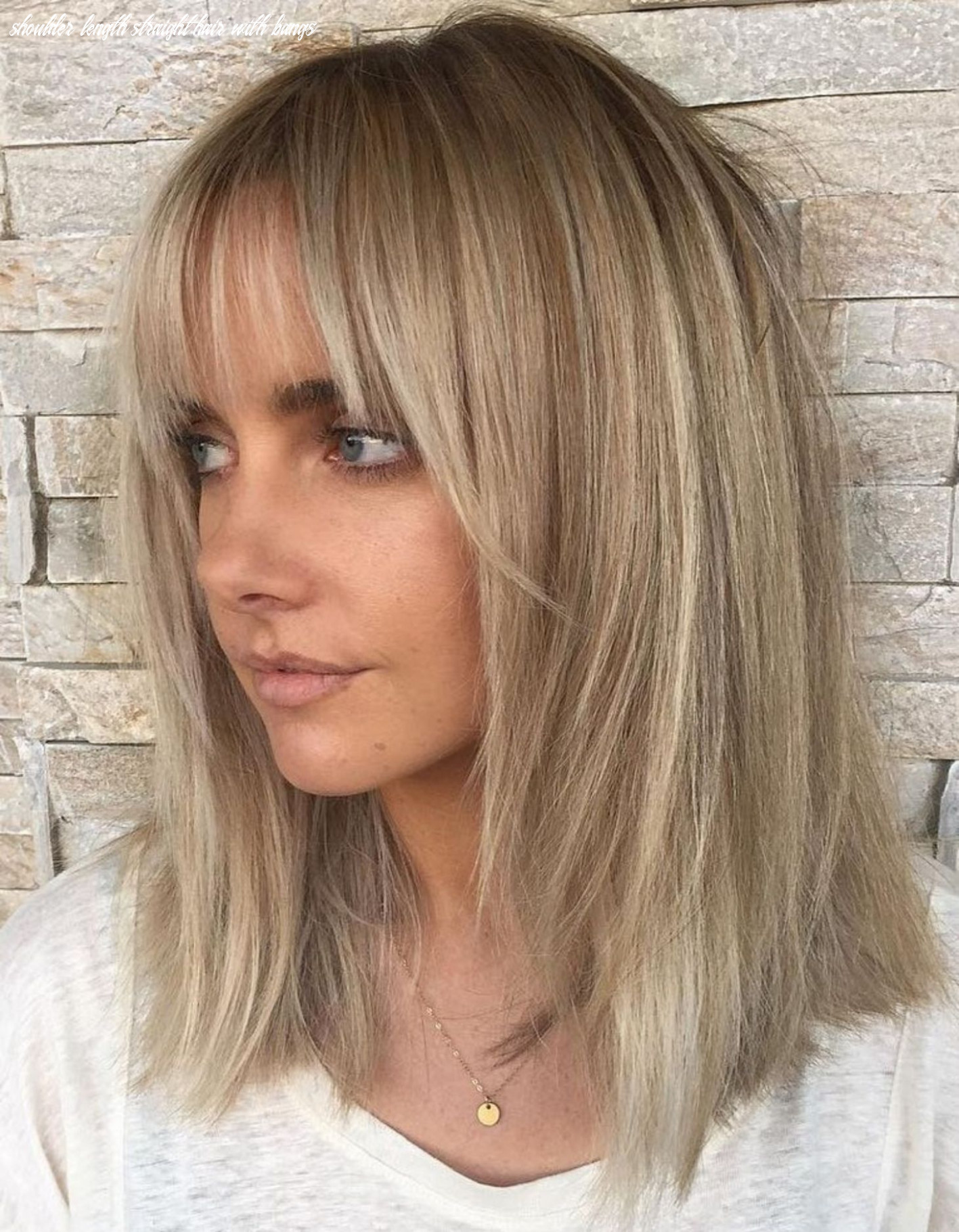Pin on beauty | hair makeup shoulder length straight hair with bangs