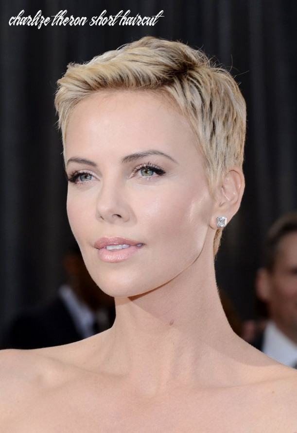 Pin on beauty trends charlize theron short haircut