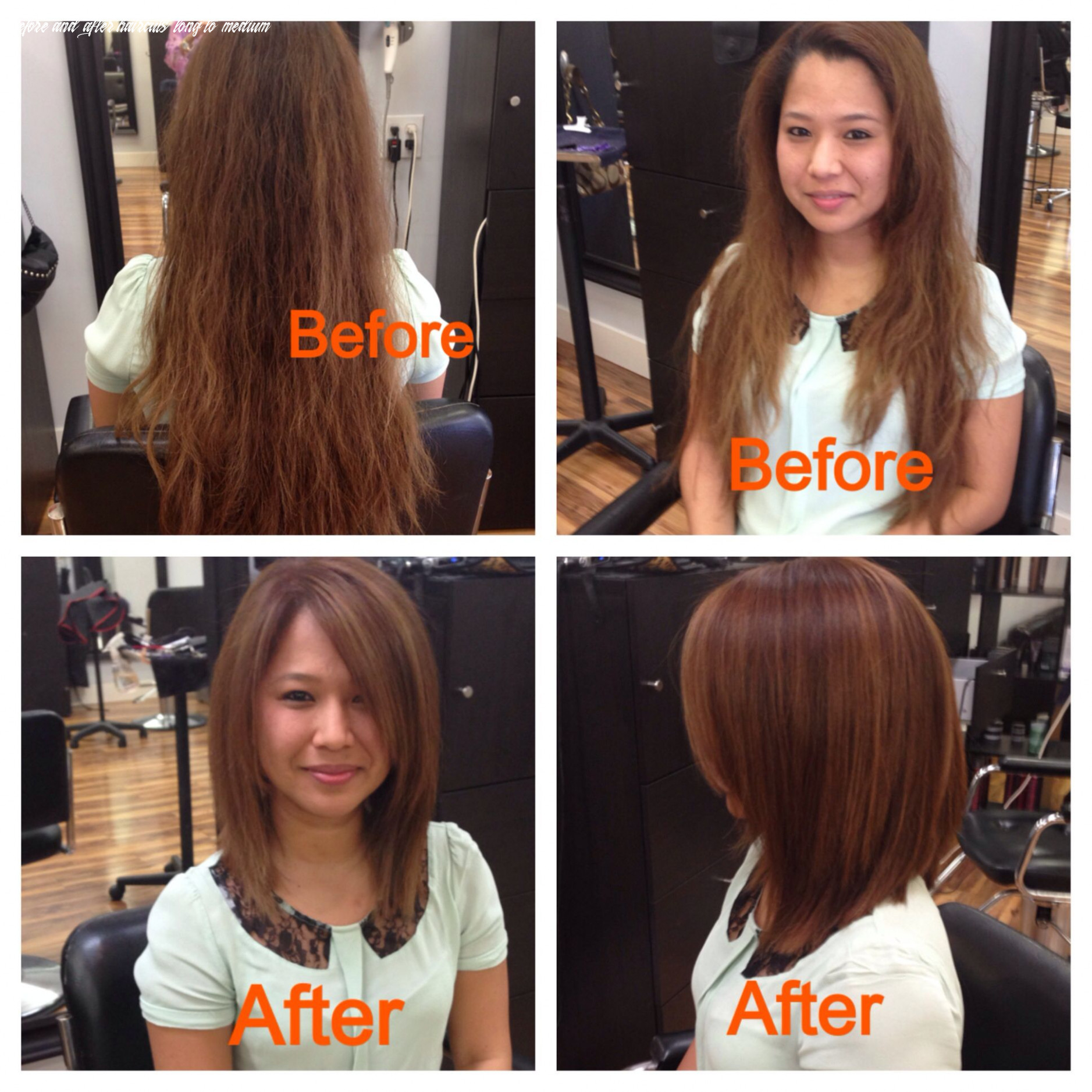 Pin on before & after before and after haircuts long to medium