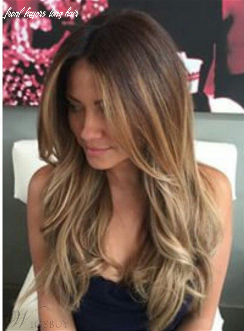 Pin on blonde babes front layers long hair