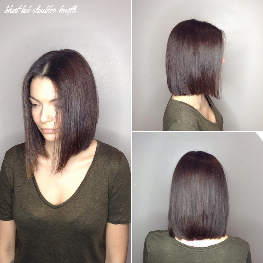 Pin on bobs & mid length cuts blunt bob shoulder length