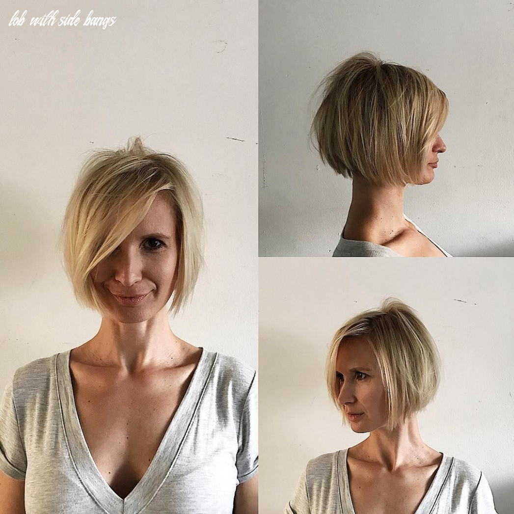 Pin on bobs & mid length cuts lob with side bangs