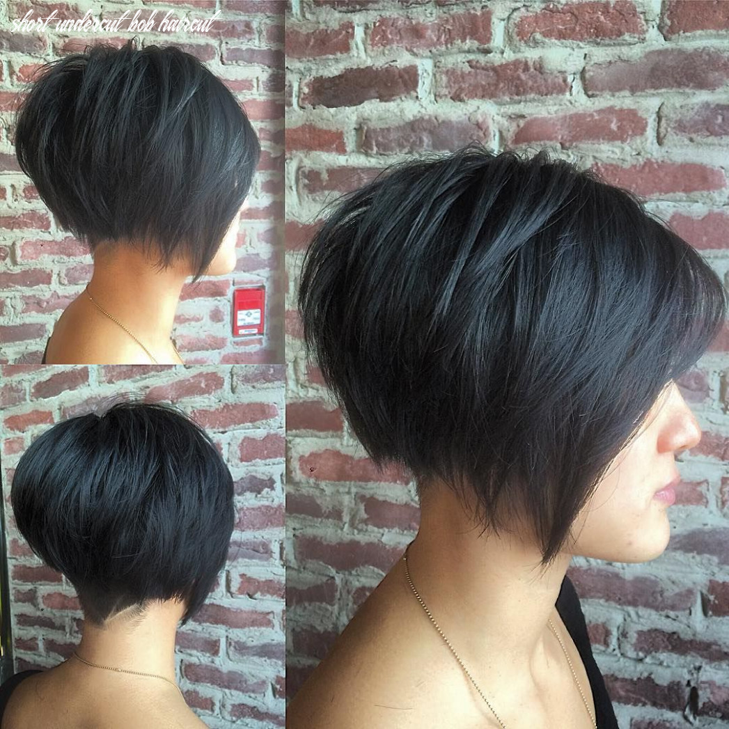 Pin on bobs & mid length cuts short undercut bob haircut