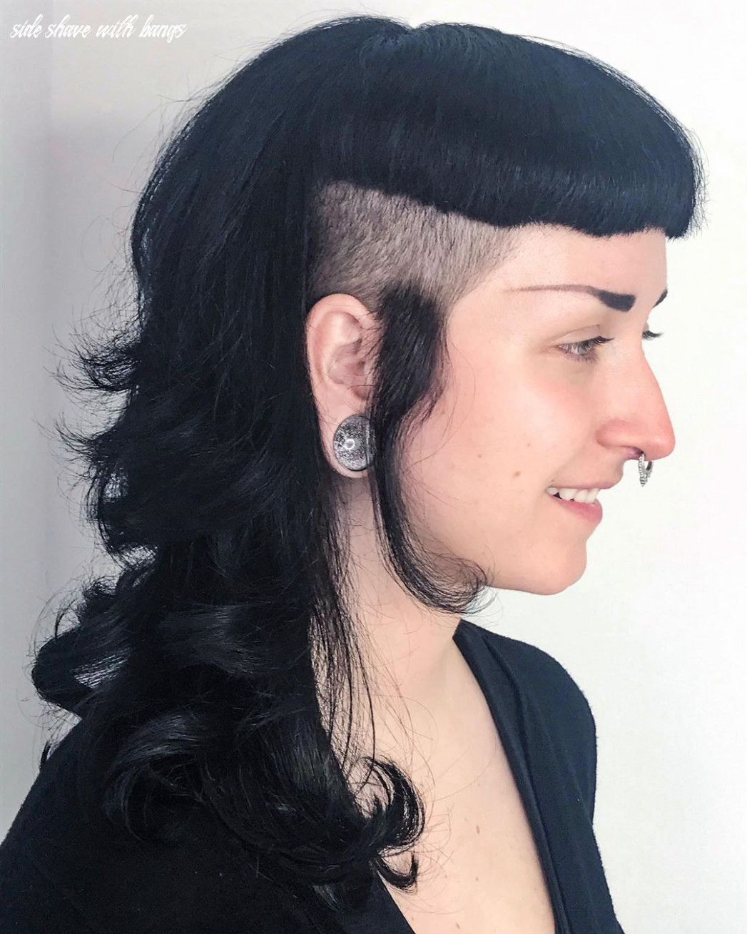 Pin on body mod & art loves side shave with bangs
