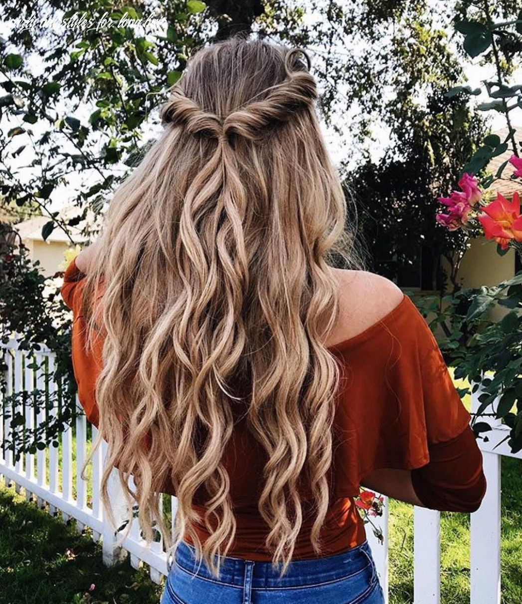 Pin on ❤ braids & tails & buns curly hairstyles for long hair