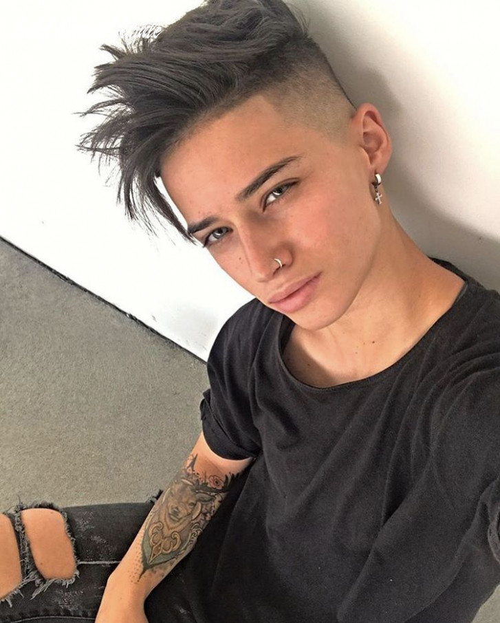 Pin on butch/genderqueer cuts for fine hair butch haircut female