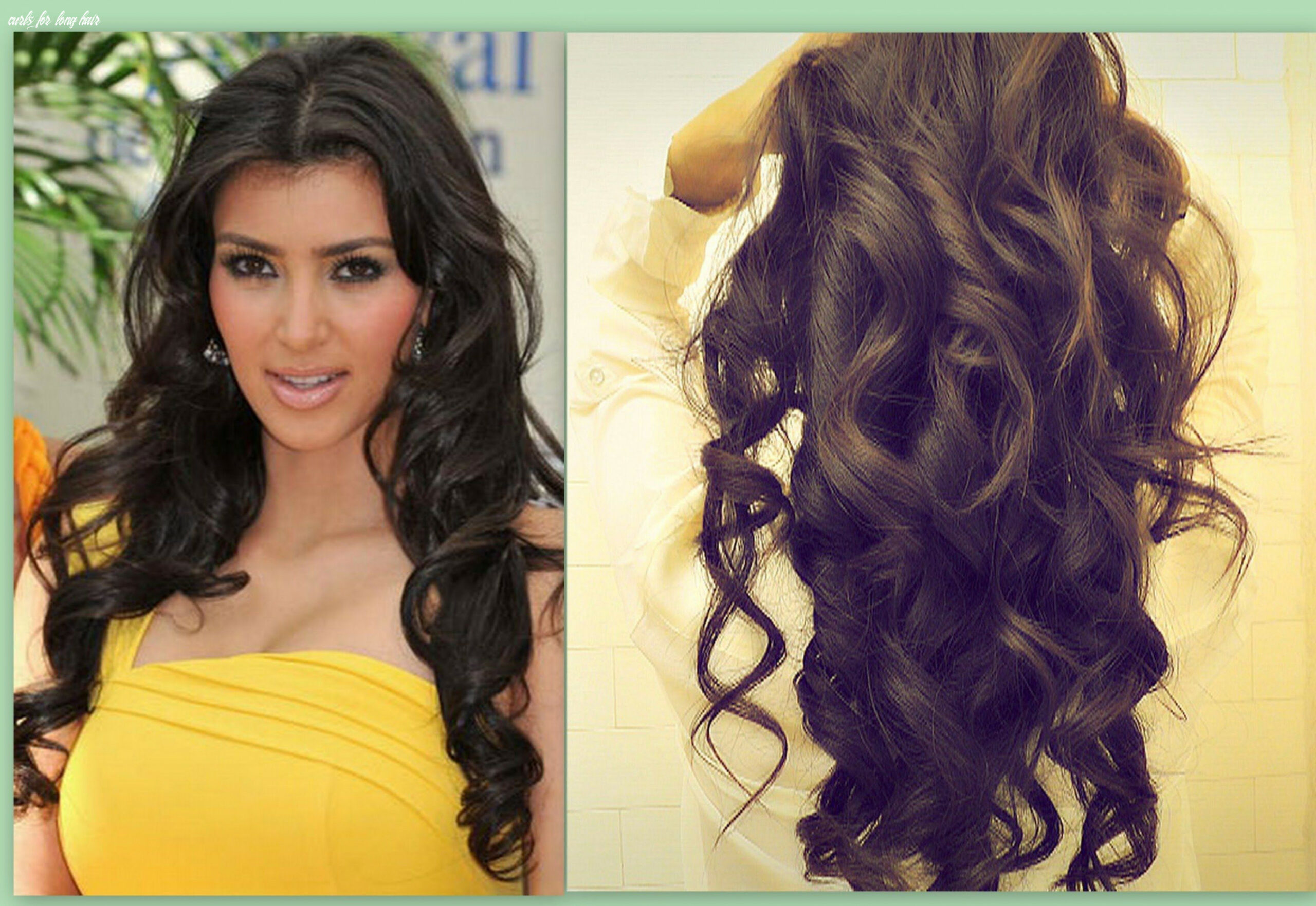 Pin on cabello curls for long hair