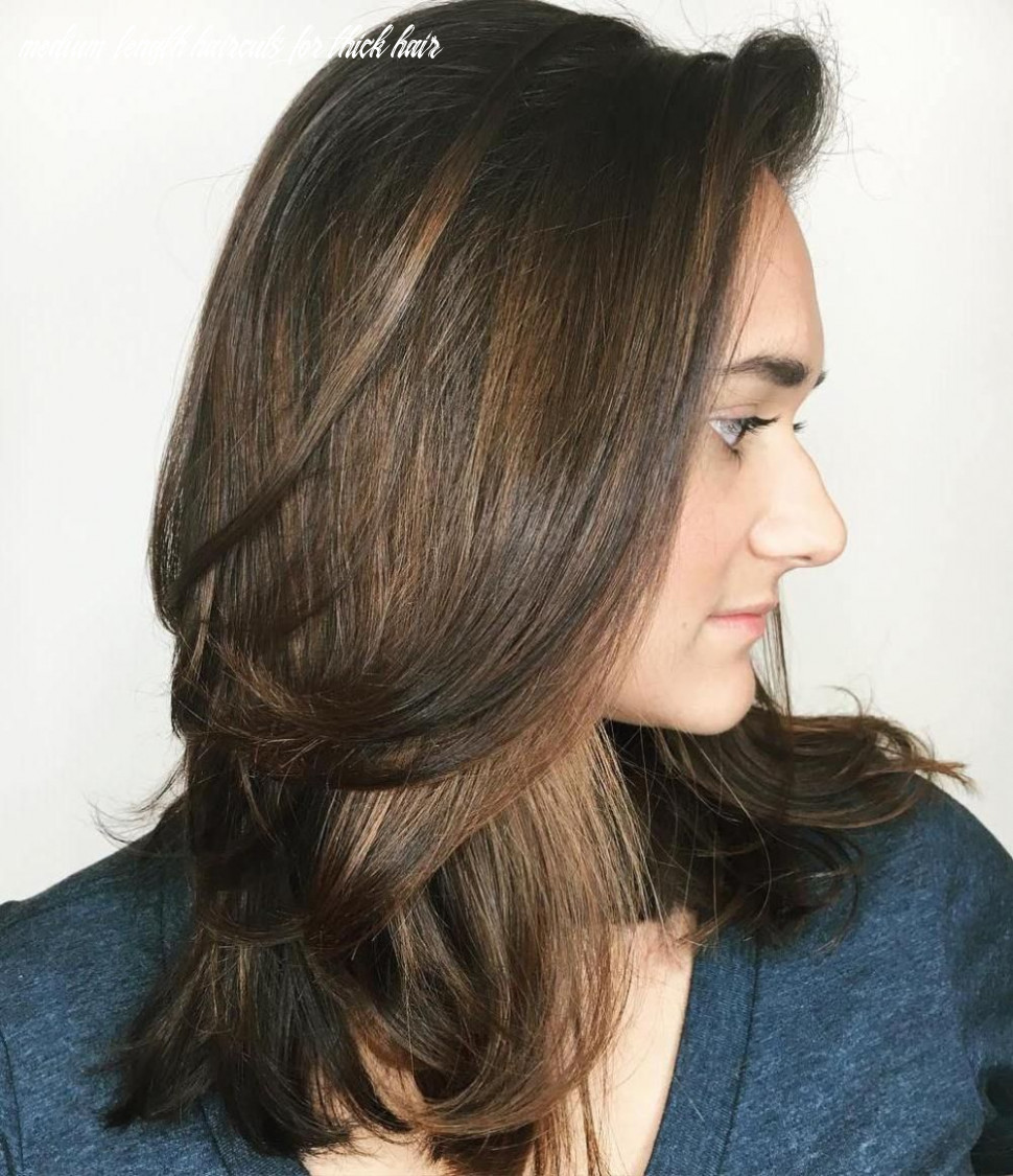 Pin on coiffure medium length haircuts for thick hair