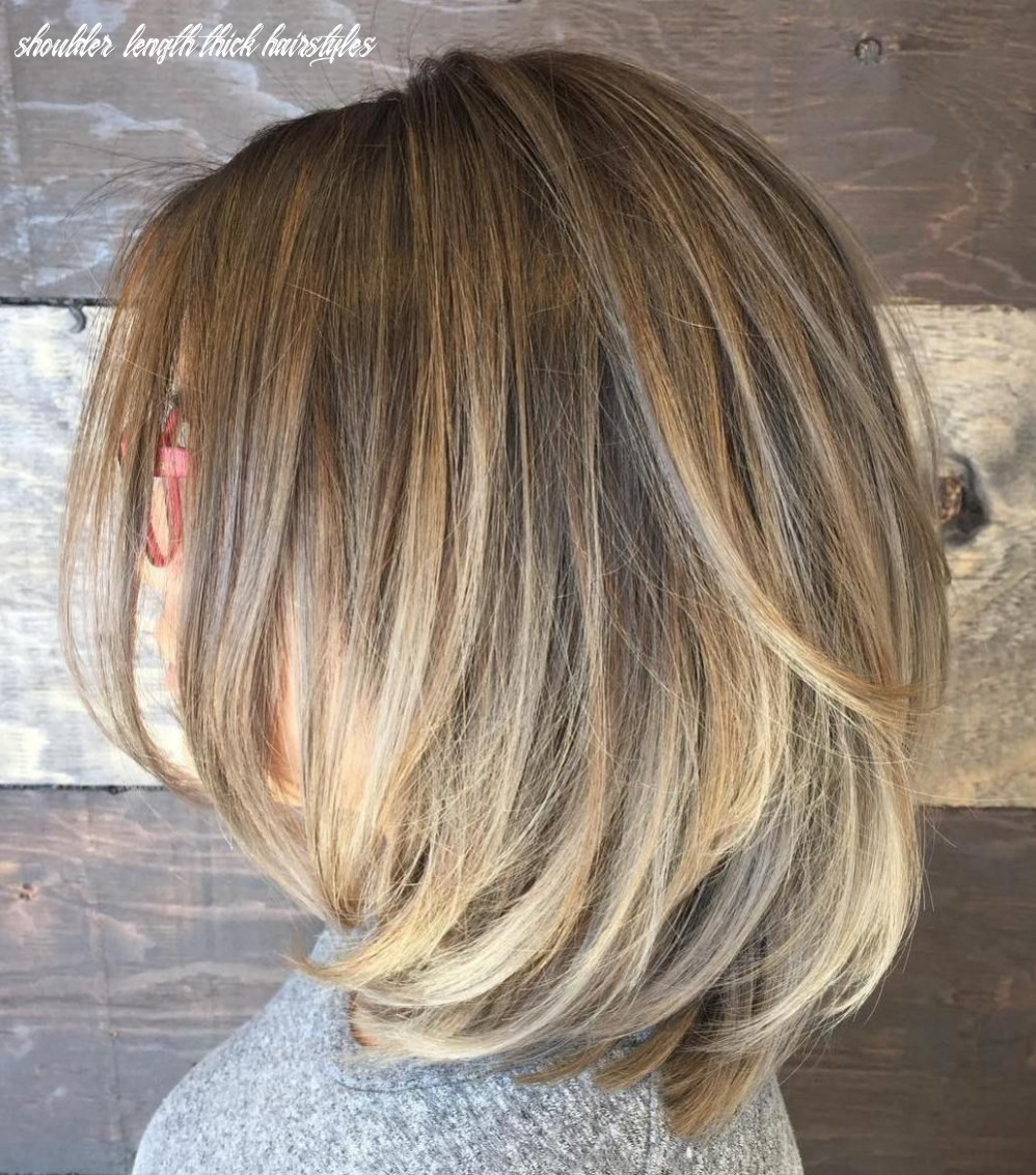 Pin on color and cut please shoulder length thick hairstyles