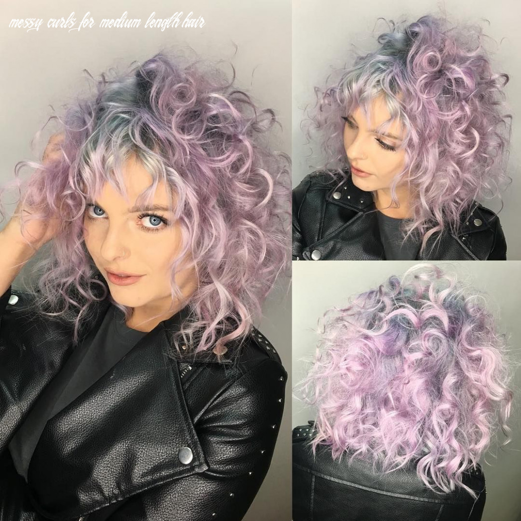 Pin on curly bobs messy curls for medium length hair