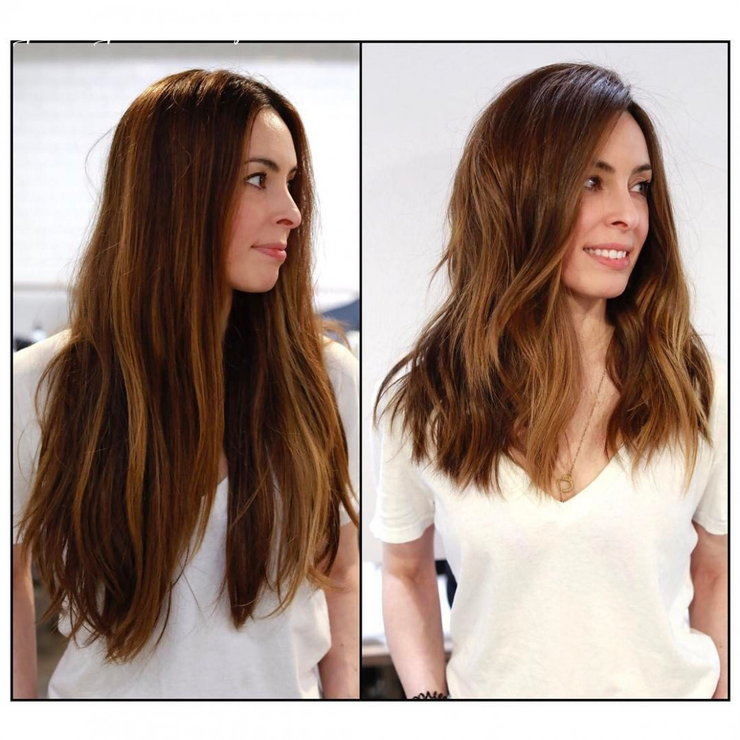 Pin on cut your hair before and after haircuts long to medium