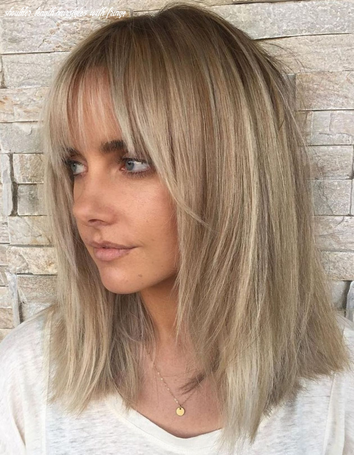 Pin on fringe hairstyles shoulder length hairstyles with fringe