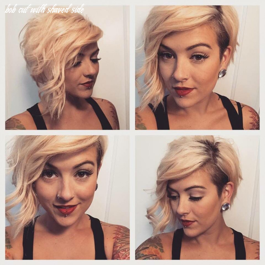 Pin on girls hair styles bob cut with shaved side
