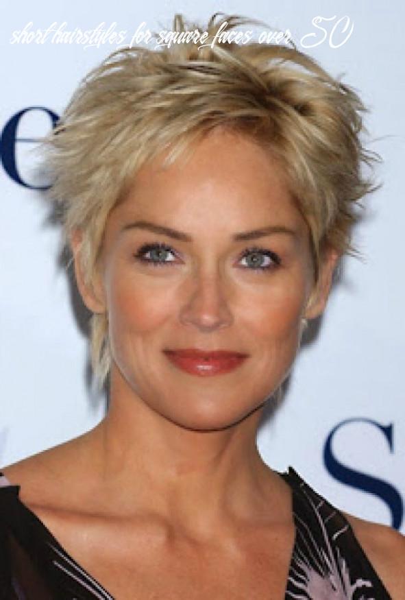 Pin on great ideas short hairstyles for square faces over 50