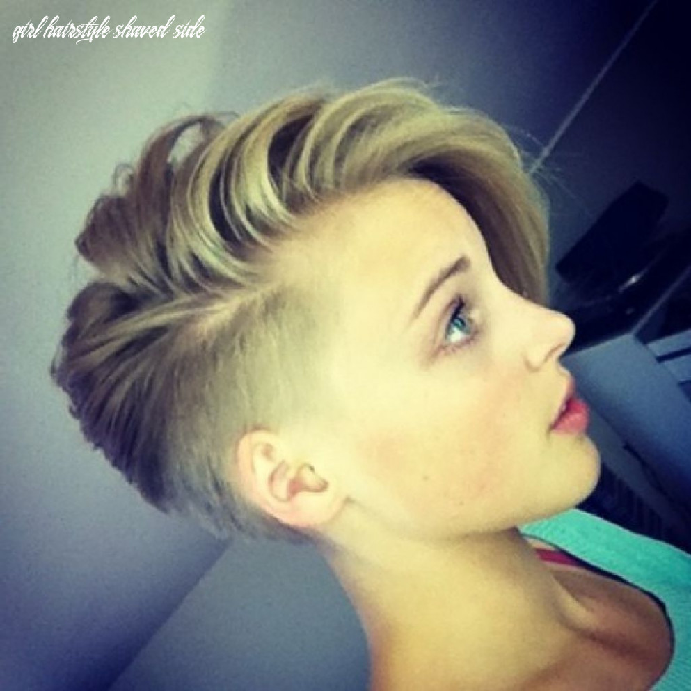 Pin on hair & nails girl hairstyle shaved side