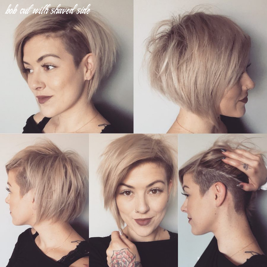 Pin on hair bob cut with shaved side
