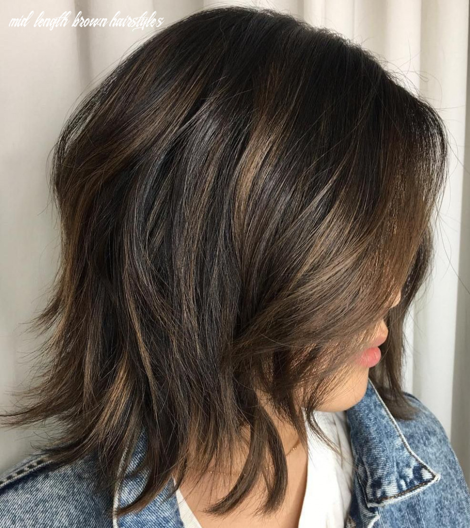 Pin on hair color/hairstyles mid length brown hairstyles
